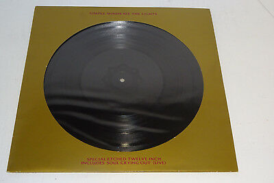 "SIMPLE MINDS SEE THE LIGHTS 1991 VIRGIN UK SPECIAL ETCHED 12"" with diecut P/S"