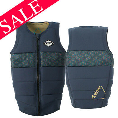 2017 Follow Oli Pro Comp Impact Vest Zip Marine Large SAVE 30%