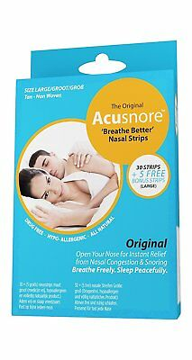 The Original Acusnore Anti Snoring & Nasal Congestion 'Breathe Better' Nasal Non