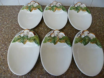 Six Hand Painted, Very Ornate, Side Dishes, 'delizie Di Calabria' Dipinto A Mano