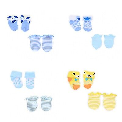 Baby Boy Socks & Mittens Assorted 1-4 Pairs Newborn Gift Set Available unicolors