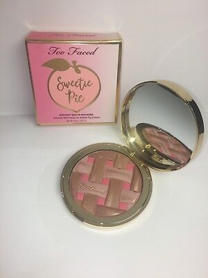TOO FACED Sweetie Pie Radiant Matte Bronzer – Peaches and Cream Collection BNIB
