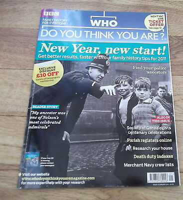 BBC WHO DO YOU THINK YOU ARE? Magazine Issue 43 Jan 2011 Police Ancestors