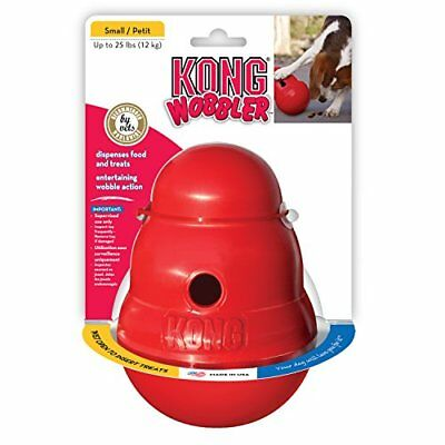 Dog ToyKONG WOBBLER Treat Dispensing Small Weighted Wobble Dog Puppy Toy-NEW