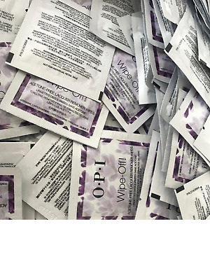 OPI Wipe Off! ACETONE FREE Lacquer Remover Wipes x 10  **PERFECT ON THE GO**