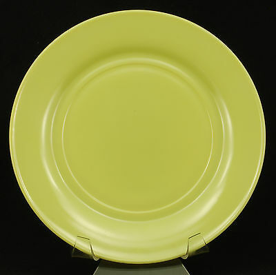 Hazel Atlas Glass Ovide Chartreuse Dinner Plate