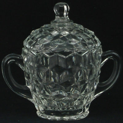 Colony Whitehall Clear Sugar Bowl and Lid