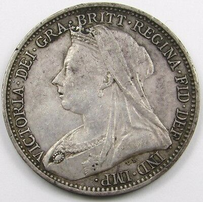 QUEEN VICTORIA VEILED HEAD SILVER MAUNDY FOURPENCE (4d) COIN dated 1894