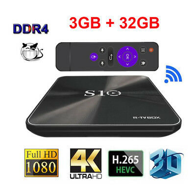 Cody 17.4 Android TV Box, S10 Android 7.1 Tv Box 3GB RAM 32GB ROM Media Player