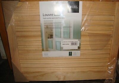 Single Pine Louvre Door/cupboard Shutter Open Slatted Various Sizes