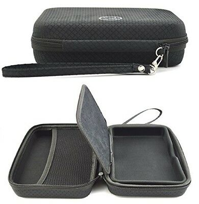 Black Hard Carry Case For Garmin DezlCam LMT-D With Accessory Storage