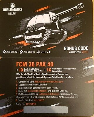 World of tanks bonus code console xbox ps4 gamescom 2016