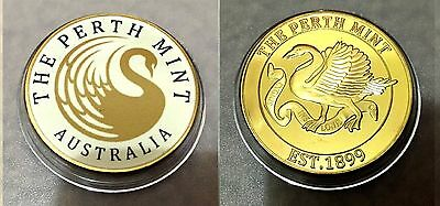 The Perth Mint Australia EST.1899 Finished in 999 24k Gold coin Medallion