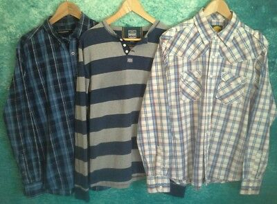 Trio of Mens Casual Shirts/Tops~Size L~French Connect~SuperDry ~SoulCal~Job lot