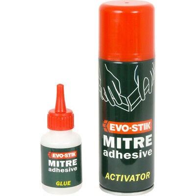 50G Evo-Stik Mitre Adhesive Two Part Glue Mitre Mate