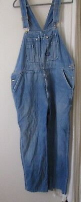 Big Smith Overalls vintage distressed denim farmer bear 42