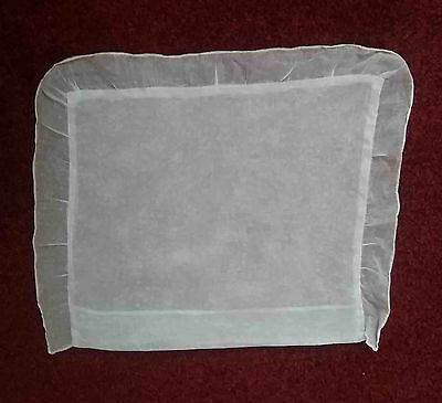 Vintage baby crib/pram fine cotton white pillpw case