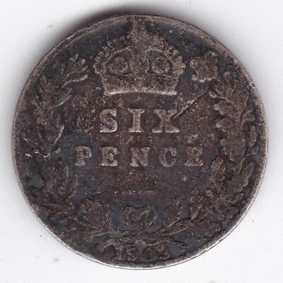 1903 Edward Sixpence***Collectors***Silver***