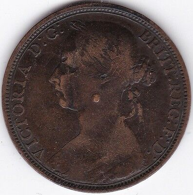 Modified Victoria One Penny***Collectors***