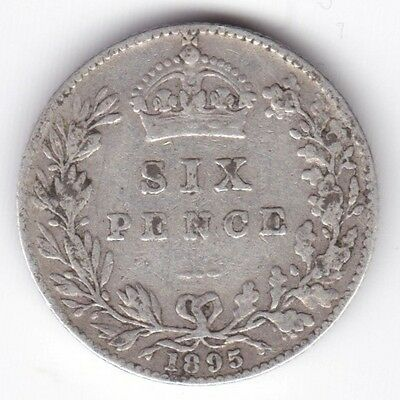 1895 Victoria Sixpence***Collectors***