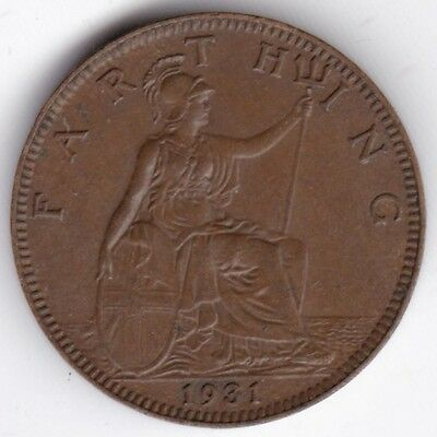 1931 George V Farthing***Collectors***