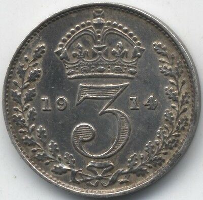 1914 George V Silver Threepence***High Grade***Collectors***