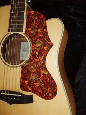 Acoustic Guitar Scratch Plate Pickguard self adhesive size shown. # 31 LARGE