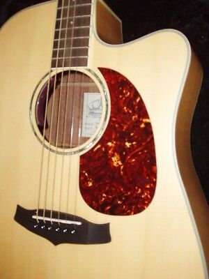 Acoustic Guitar Scratch Plate Pickguard self adhesive size shown. # 28