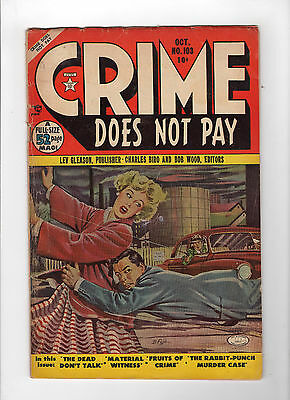 Crime Does Not Pay #103 (Oct 1951, Lev Gleason) - Good+