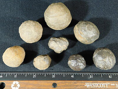 A Big Lot of OK 100% Natural Moqui Marbles or Shaman Stones From Utah! 241gr e