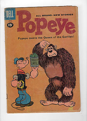 Popeye #58 (Mar-Apr 1961, Dell) - Good-