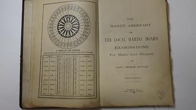 Rare Antique HB Book Handy Assistant Local Marine Board Exams Mates&Masters