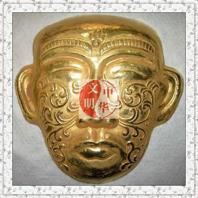 Liao Kingdom Khitay Royal Tomb Queen Head Armor Flower Pendant Gold Bronze Mask