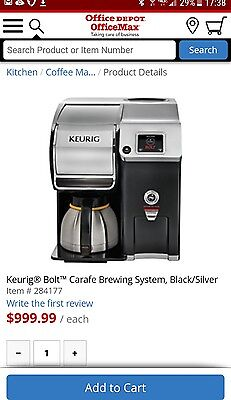 BRAND NEW in BOX!!! Keurig Z6000 Bolt Commercial  Coffee Brewing System