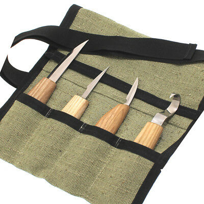 Wood carving set 4 knives hand tools kit NEW Spoon sloyd knife Woodworking S1