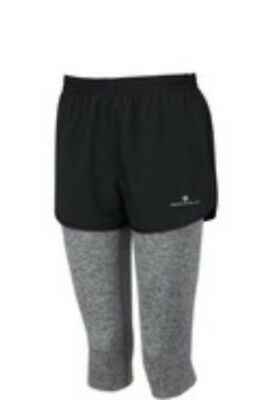 Womens running capri and shorts 2 in 1 set  by Ronhill size S new, RRP Euro 47.