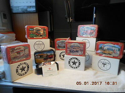 Lot Of (9) Texaco Collector Club Trucks By Ertle