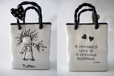 """Enesco Children of the Inner Light by Marci: Personalized Ceramic Bag """"Mother"""""""