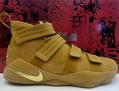 c3369a8a3c7 NIKE LEBRON SOLDIER XI SFG 897646-700 Wheat Gold Metallic Gold Men s  Sneakers