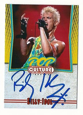 Billy Idol Authentic Autographed 'Pop Culture Icons' Signature Series Card