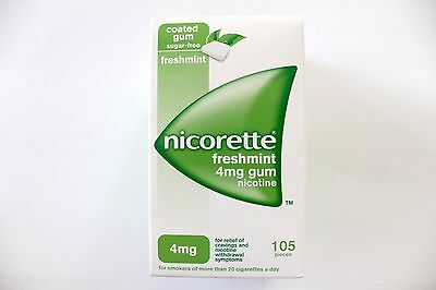 Nicorette Freshmint Flavour 4mg Sugar-Free Coated Gum - 105 Pieces
