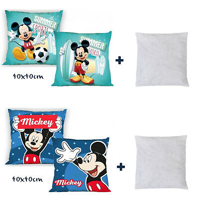 Disney Mickey Mouse Children`s Character Two Sided Printed Cushion Cover+Pad