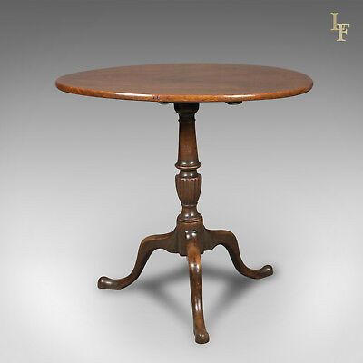 Georgian Antique Tilt Top Table in Mahogany c.1800