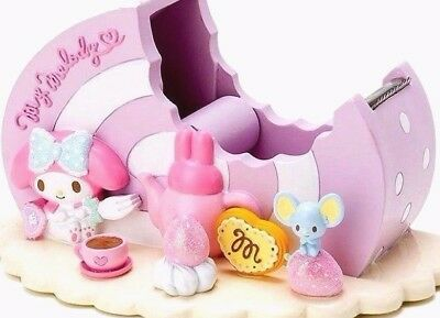 New Kawaii Sanrio My Melody Roll Cake-Shaped Tape Dispenser With Dbl Roll Tapes