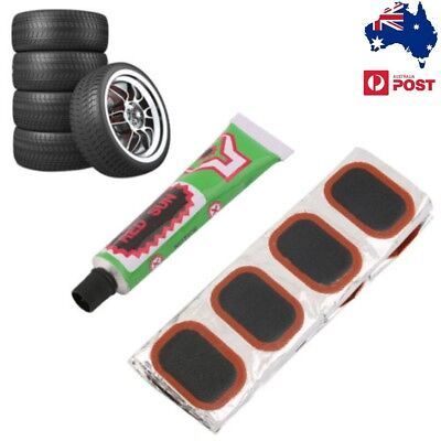AU 48pcs Bike Tire Bicycle Kit Patches Repair Glue Tyre Tube Rubber Puncture