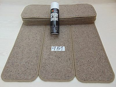 Open Plan Stair Carpet pads 60cm wide 10 off and FREE can of SPRAY GLUE 951-9