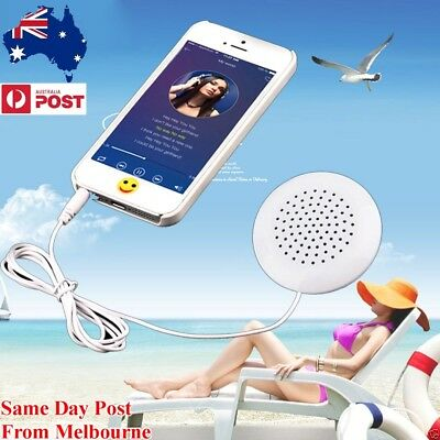 NEW 3.5mm Portable Pillow Audio Speaker Music Neck For MP3 MP4 For iPhone iPod R