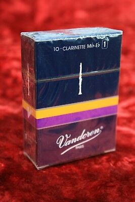 Vandoren Traditional Eb Clarinet Reeds - box of 10 - New and Sealed - 1,3,4's