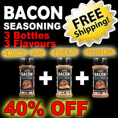 Bacon Seasoning ~ Triple Flavour Pack! ~ HUGE 40% DISCOUNT + FREE SHIPPING!