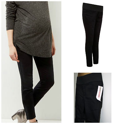 Ex New Look Maternity Black skinny Jeggings Under Bump Jeans Size 8 - 18